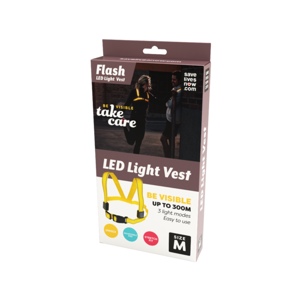 Flash LED Light Vest Medium